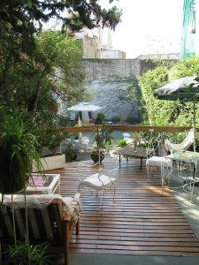 Jets Like Taxis: Our patio and garden in Buenos Aires, Argentina