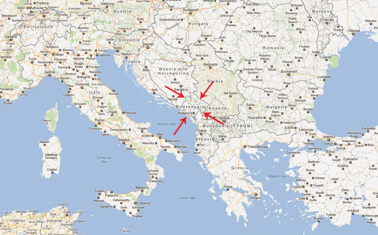 Montenegro Map - Montenegro Map Google Maps