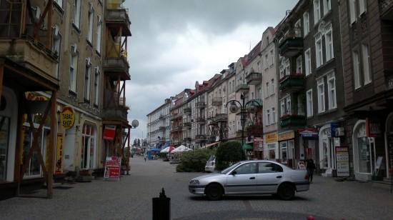 The old town center of Slubice, Poland