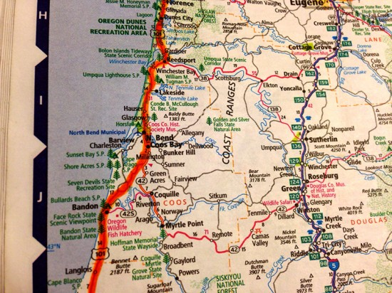 Map of Coos Bay, Oregon by Jets Like Taxis