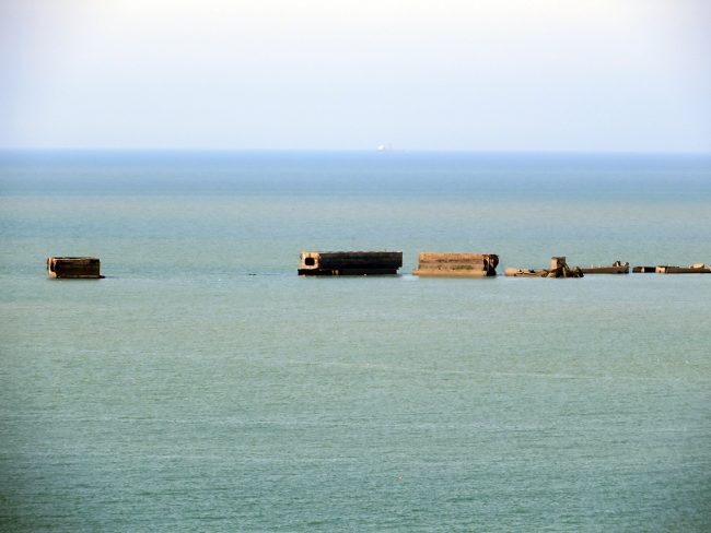 Arromaches - Mulberry Harbor in Normandy by Jets Like Taxis