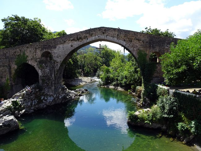 Puente Romano in Cangas de Onís, Spain by Jets Like Taxis