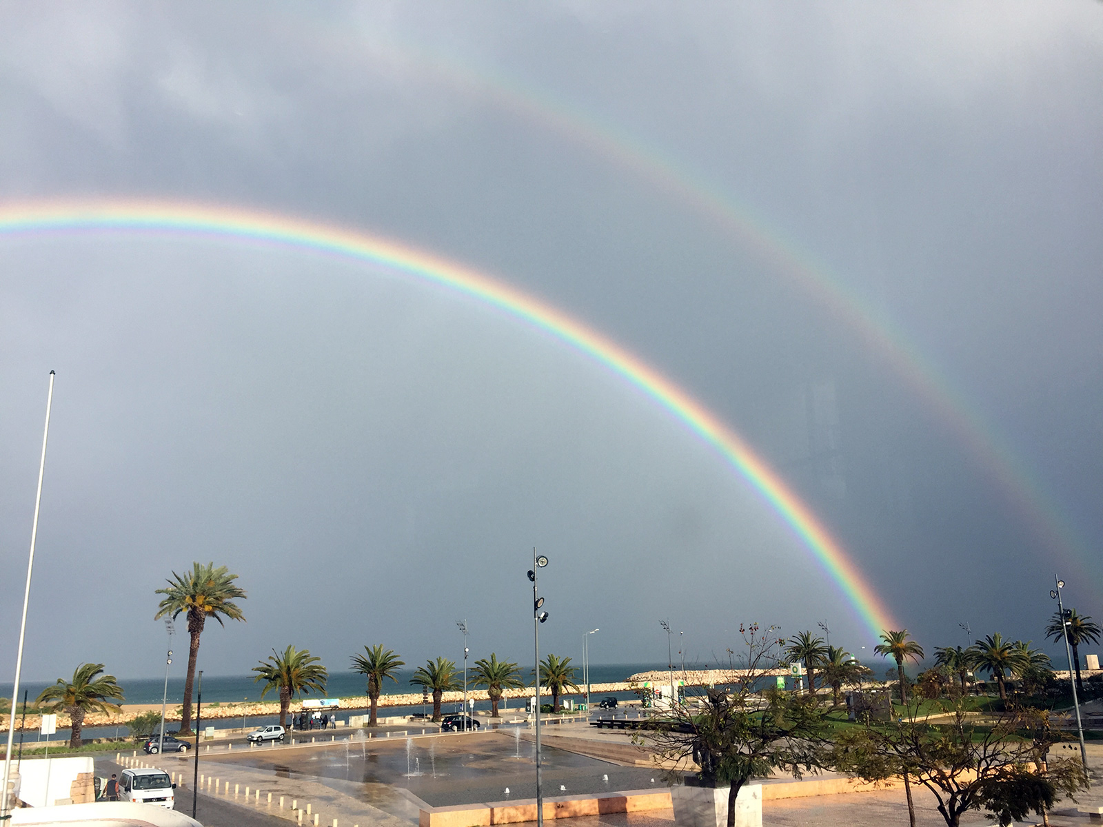 Double Rainbow in Lagos, Portugal by Jets Like Taxis
